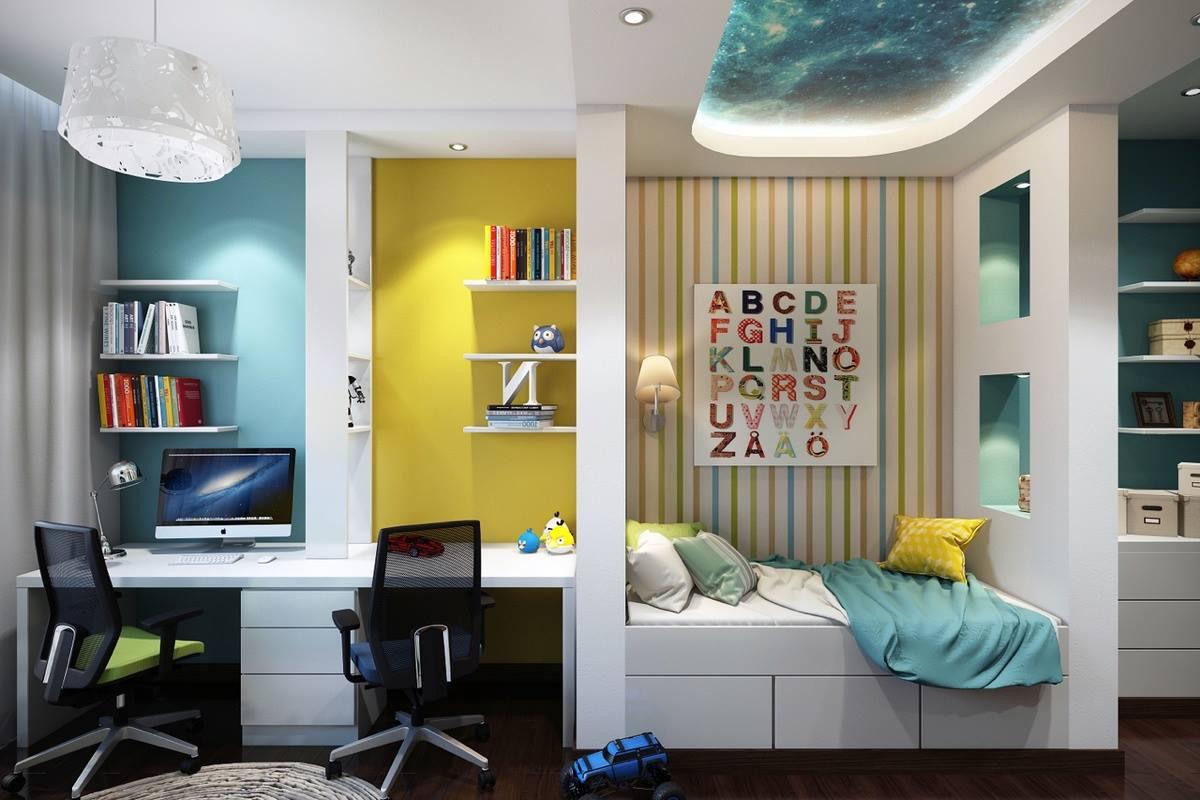 детская комната для 2 разнополых детей