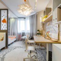 46253 Детская комната для детей разного пола и возраста: несколько дизайн предложений