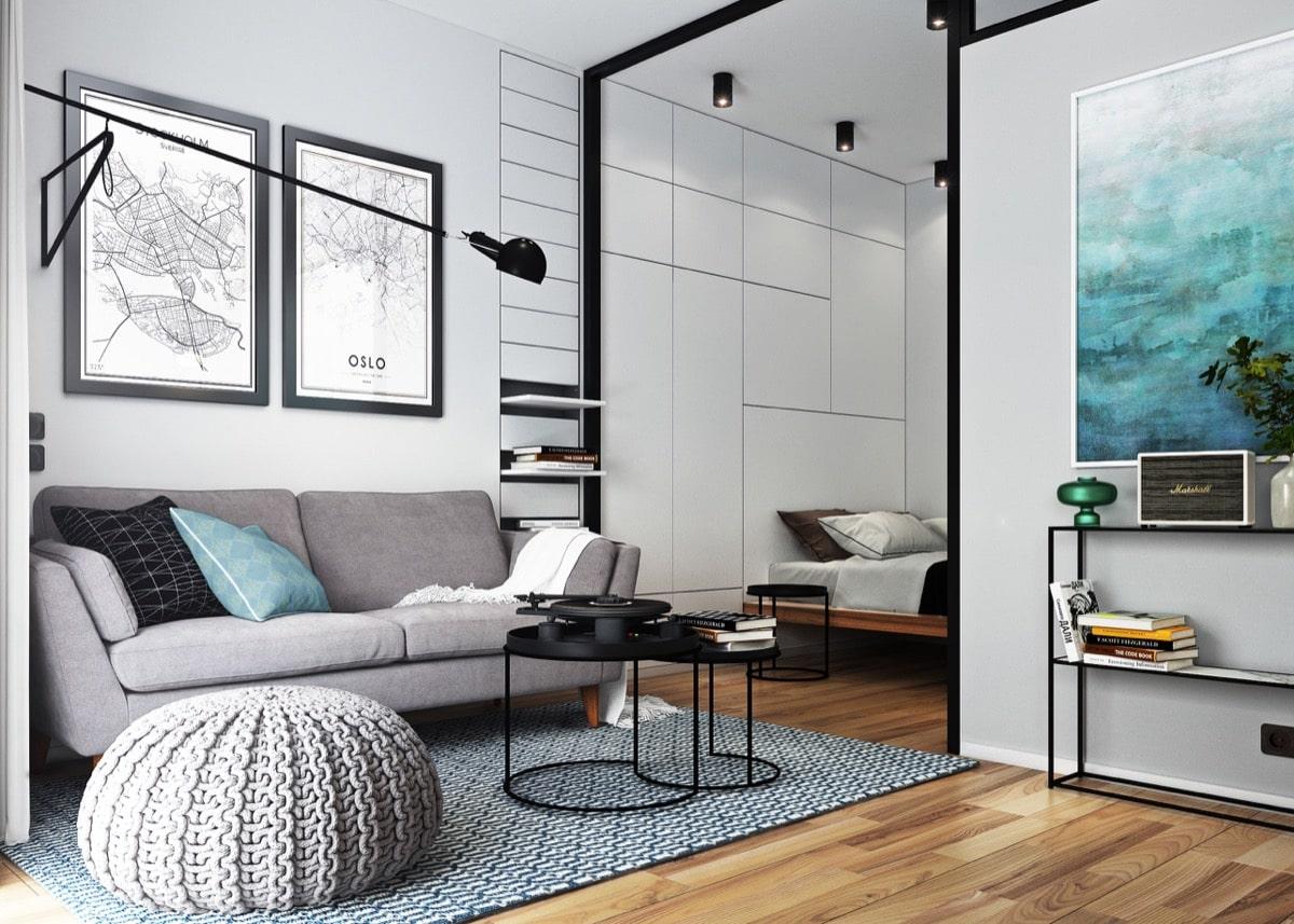 дизайн квартиры белые стены
