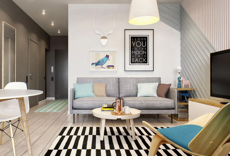 дизайн квартиры 33 кв
