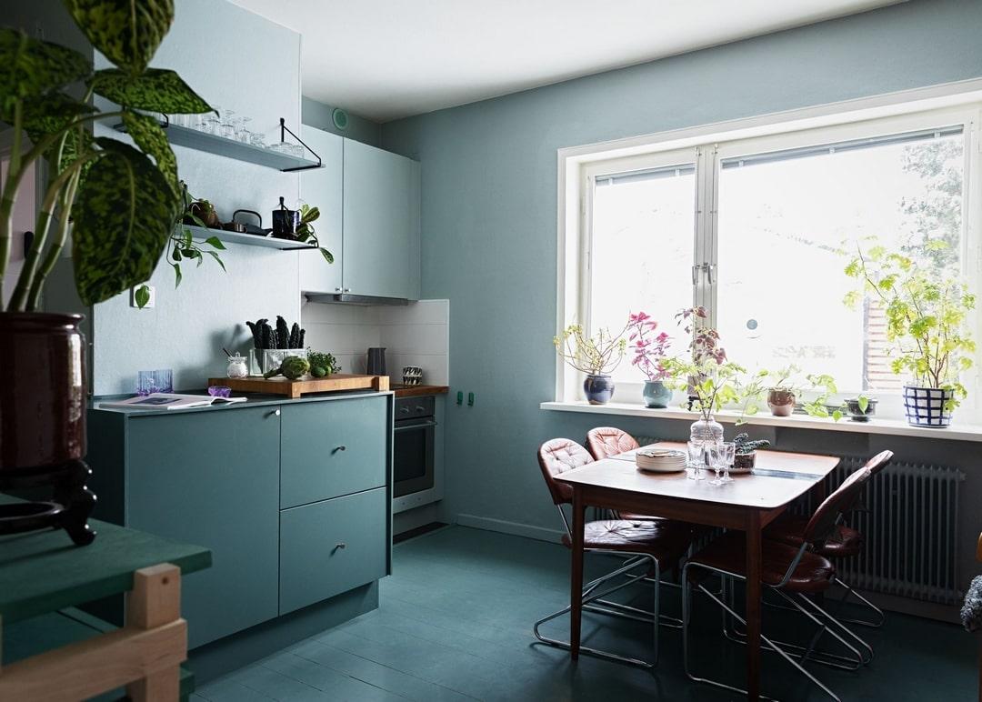 Необычный дизайн кухни запомнится надолго