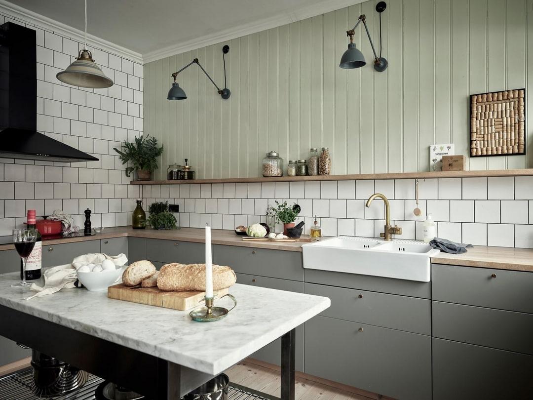 дизайн кухни цветовые решения