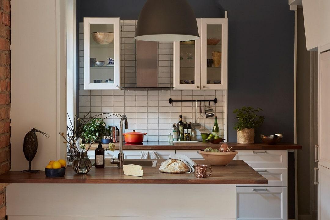 дизайн кухни шкафы