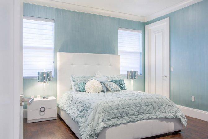 Холодный голубой цвет для каждой комнаты